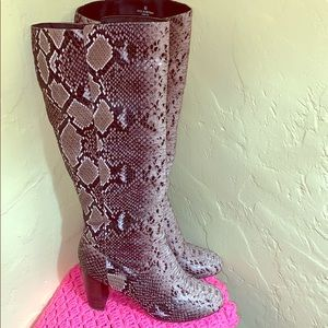 ❤️ ASOS Snakeskin Knee High Boot